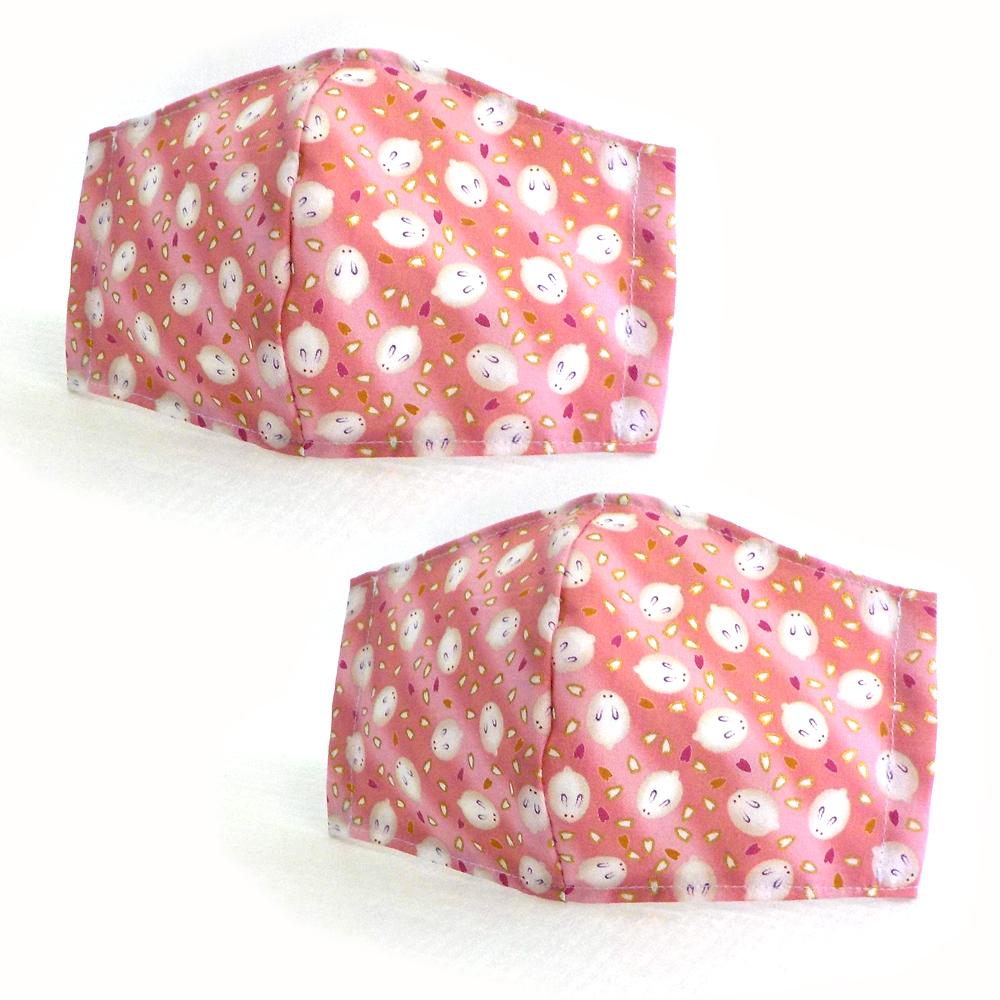 立体マスク うさぎ柄 ピンク
